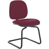 Vantage Plus fabric visitors chair with black base - made to order