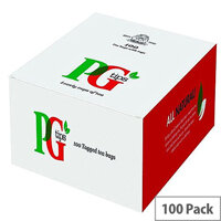 PG Tips One Cup Teabags Tagged Bags Pack of 100 1004539