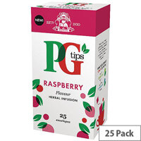 PG Tips Raspberry Envelope Tea Bags Pack of 25 49228801