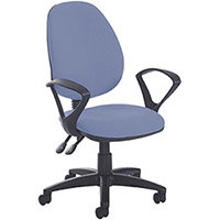 Vantage Plus high back PCB operators chair with fixed arms and lumbar - made to order