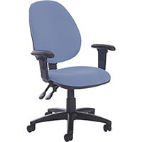 Vantage Plus high back PCB operators chair with adjustable arms and lumbar - made to order