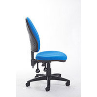 Vantage Plus high back asynchro operators chair with no arms, chrome base, seat slide and lumbar - made to order