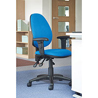 Vantage Plus high back asynchro operators chair with fixed arms and lumbar - made to order