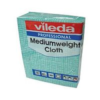 Vileda Medium Weight Cloth Green Pk10