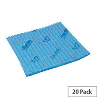 Vileda Breazy Microfibre Cleaning Cloths Pack of 20 Blue 137638