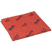 Vileda Breazy Microfibre Cloth Wave Red Pack of 25 0707221