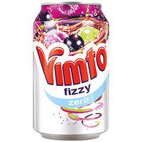Vimto Zero Sugar 300ml Can Pack of 24 2100