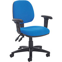 Vantage Plus medium back PCB operators chair with adjustable arms, seat slide and lumbar - made to order