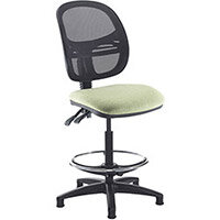 Vantage mesh back draughtsmans chair with no arms - made to order