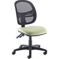 Vantage Mesh medium back operators chair with no arms, chrome base and seat slide - made to order
