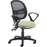 Vantage Mesh medium back operators chair with fixed arms and chrome base - made to order
