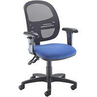 Jota Mesh Medium Back Operators Chair With Adjustable Arms - Blue