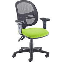 Jota Mesh Medium Back Operators Chair With Adjustable Arms - Green