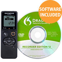 Olympus VN-541PC Digital Voice Recorder 4GB + DNS 12 Speech Recognition Software