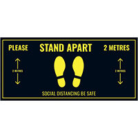 Social Distance Floor Sticker 400x180mm Pack of 5 Socialstick01Rec