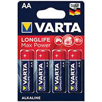 Varta Longlife Max Power AA Battery Pack of 4 04706101404