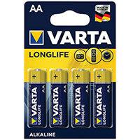 Varta Longlife AA Battery Pack of 4 04106101414
