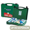 First Aid Kit Green Box HS3 Traditional 50 Person