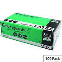 Wallace Cameron Large Disposable Latex Medical Examination Gloves Pack of 100