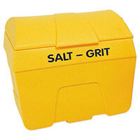 Yellow Winter Salt and Grit Bin 200 Litre No Hopper 317055