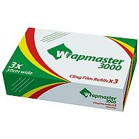 Wrapmaster 3000 Cling Film Refills 300mx30cm (Pack of 3) 31C80