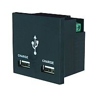 1 amp White Double USB Charger