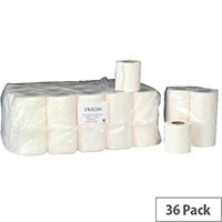 Whitebox Dispenser Toilet Paper Tissue Rolls 2-Ply White 200 Sheet (Pack 36) TWH200T