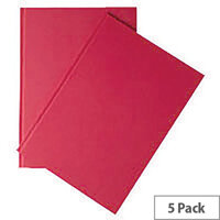 Whitebox A4 Indexed Ruled Manuscript Book Pack of 5 WX01063