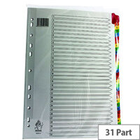 A4 Mylar Index 1-31 Multi-Colour Subject Divider WX01522