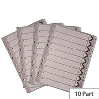 A4 Mylar Index 1-10 White Subject Divider WX01528