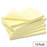 Uno Repositionable Notes 5x3 Yellow [Pack 12]