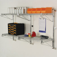 Wall Mounted Fixed & Adjustable Wire Shelving