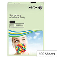 Xerox Symphony Pastel Green A4 Paper 80gsm Pack of 500