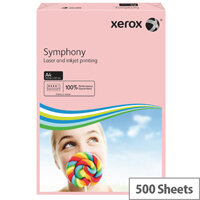 Xerox Symphony Pastel Pink A4 Paper 80gsm Paper Pack of 500
