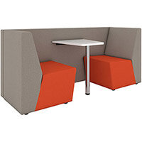 Ziggy low back 2 person meeting booth with table - made to order