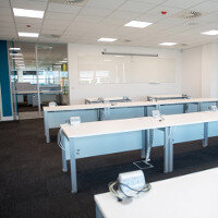 Amazon Contact Centre in Cork Training Rooms: Desking Project By Huntoffice Interiors