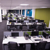 Amazon Phase 2 Open Plan Office Bench Desking Project By Huntoffice Interiors
