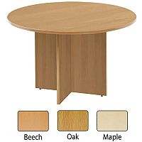 Arista 1200mm Round Meeting Table Maple KF72050