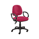 Arista Concept Medium Back Permanent Contact Operators Chair Claret KF03454