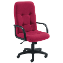 Arista High Back Managers Chair Claret
