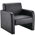 Arista Leather Look Black Reception Armchair Black