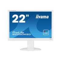 "Iiyama ProLite B2280WSD-1 - LED Computer Monitor - 22"" - 1680 x 1050 - TN - 250 cd/m² - 1000:1 - 5 ms - DVI-D, VGA - speakers - white"
