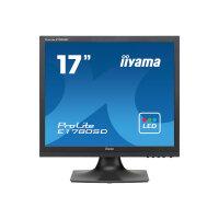 "Iiyama ProLite E1780SD-B1 - LED Computer Monitor - 17"" - 1280 x 1024 - TN - 250 cd/m² - 1000:1 - 5 ms - DVI-D, VGA - speakers - black"