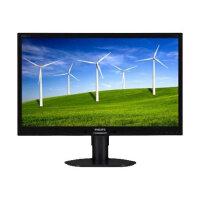 "Philips Brilliance B-line 241B4LPYCB - LED Computer Monitor - 24"" - 1920 x 1080 Full HD (1080p) - TN - 250 cd/m² - 1000:1 - 5 ms - DVI-D, VGA, DisplayPort - speakers - textured black with black stand"