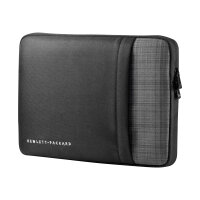 "HP Ultrabook Professional Sleeve - Notebook sleeve - 12.5"" - solid black with grey plaid accents - for Chromebook 11 G5; Chromebook x360; EliteBook 725 G4, 820 G4; Pro x2; Stream Pro 11 G3"