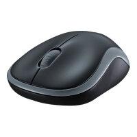 Logitech M185 - Mouse - optical - wireless - 2.4 GHz - USB wireless receiver - grey