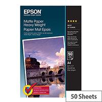 Epson - Matte - A4 (210 x 297 mm) - 167 g/m² - 50 sheet(s) paper - for EcoTank ET-16500, L385; Expression Premium XP-540, 900; SureColor P800, SC-P5000