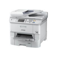 Epson WorkForce Pro WF-6590DWF - Multifunction printer - colour - ink-jet - A4 (210 x 297 mm) (original) - A4/Legal (media) - up to 22 ppm (copying) - up to 34 ppm (printing) - 580 sheets - 33.6 Kbps - USB 2.0, Gigabit LAN, Wi-Fi(n), USB host, NFC