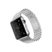 Apple Watch Original - 42 mm - stainless steel - smart watch with link bracelet - stainless steel - band size 140-205 mm - Wi-Fi, Bluetooth - 50 g