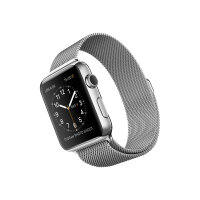 Apple Watch Original - 42 mm - stainless steel - smart watch with milanese loop - stainless steel - band size 150-200 mm - Wi-Fi, Bluetooth - 50 g
